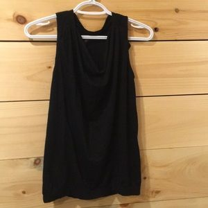 Casual black tank top
